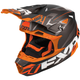 Black/Orange Blade Vertical Helmet