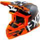 Black/Orange/White Boost Clutch Helmet