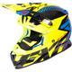 Hi-Vis/Blue/Black Boost CX Prime Helmet