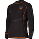 Black Pyro Thermal Long Sleeve Top