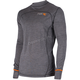 Charcoal 100% Merino Vapour Long Sleeve Shirt