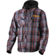Charcoal/Orange Timber Plaid Insulated Jacket