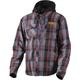 Charcoal/Orange Timber Plaid Insulated Jacket