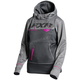 Women's Black/Charcoal Heather Pursuit Tech Pullover Hoody