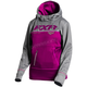 Women's Wineberry Heather/Gray Heather Pursuit Tech Pullover Hoody