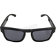 Brix Matte Black RX Ready Folding Sunglasses w/Smoke Lenses - 378171