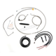 Complete Braided Stainless Cable/Brake Line Kit w/ABS For Use w/Beach Bars - LA-8151KT2B-04