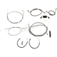 Complete Braided Stainless Cable/Brake Line Kit w/ABS For Use w/Mini Ape Hangers (Single Disc) - LA-8321KT2-08