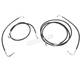 Standard Black Vinyl/Stainless Cable and Brake Line Kit for use w/ 15