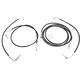 Standard Black Vinyl/Stainless Cable and Brake Line Kit for Use w/18
