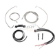 Complete Stainless Braided Handlebar Cable and Brake Line Kit for use w/Mini  Ape Hangers w/o ABS - LA-8055KT2-08