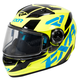 Youth Hi-Vis/Blue/Black Nitro Core Helmet
