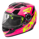 Youth Fuchsia/Hi-Vis/Black Nitro Core Helmet
