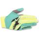 Yellow/Teal Aviator Gloves