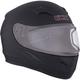 Matte Black RR610 Snow Helmet