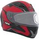 Matte Red/Black/Gray RR610 Insert Snow Helmet