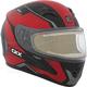 Matte Red/Black/Gray RR610 Insert Snow Helmet w/Electric Shield
