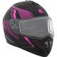 Matte Black/Pink Tranz RSV Recharge Modular Snow Helmet