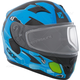 Youth Matte Blue/Black/Green RR610Y Cosmos Snow Helmet