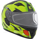 Youth Matte Green/Black/Red RR610Y Cosmos Snow Helmet