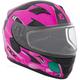 Youth Matte Pink/Black/Teal RR610Y Cosmos Snow Helmet