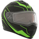 Matte Black/Green Tranz 1.5 RSV Vision Modular Snow Helmet