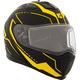Matte Black/Yellow Tranz 1.5 RSV Vision Modular Snow Helmet w/Electric Shield