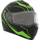 Matte Black/Green Tranz 1.5 RSV Vision Modular Snow Helmet w/Electric Shield