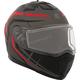 Matte Black/Gray/Red Tranz 1.5 RSV Scorpion Modular Snow Helmet w/Electric Shield