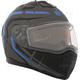 Matte Black/Gray/Blue Tranz 1.5 RSV Scorpion Modular Snow Helmet w/Electric Shield