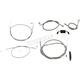 Black Vinyl Coated Replacement Brake Line Kit for Use w/Mini Ape Hangers (Single Disc) w/ABS - LA-8321B08B