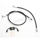 Black Vinyl Coated Replacement Brake Line Kit for Use w/18