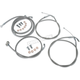 Stainless Steel Handlebar Cable and Line Kit For 15