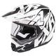 Black/White Torque X Core Helmet w/Electric Shield