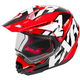 Black/Red/White Torque X Core Helmet w/Electric Shield