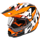 Black/Orange/White Torque X Core Helmet w/Electric Shield - 180610-1030-13