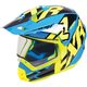 Blue/Hi-Vis/Black Torque X Core Helmet w/Electric Shield