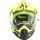 Black/Hi-Vis Torque X Core Helmet w/Electric Shield