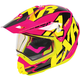 Fuchsia/Hi-Vis/Black Torque X Core Helmet w/Electric Shield