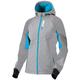Women's Gray Heather/Aqua Pulse Softshell Jacket