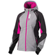 Women's Gray Heather/Wineberry Pulse Softshell Jacket