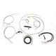 Complete Braided Stainless Cable/Brake Line Kit w/ABS For Use w/12