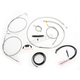 Complete Braided Stainless Cable/Brake Line Kit w/ABS For Use w/15