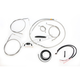 Complete Braided Stainless Cable/Brake Line Kit w/ABS For Use w/18