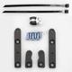 Black Front Fender Riser Kit - 10001