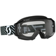 Black/White Hustle MX Goggles w/Clear Lens - 262592-1007113