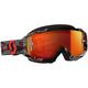 Black/Red Hustle MX Goggles w/Orange Chrome Lens - 262592-1042280