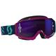 Blue/Pink Hustle MX Goggles w/Purple Chrome Lens - 262592-2839281