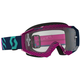 Blue/Pink Hustle MX Goggles w/Clear Lens - 262592-2839113
