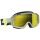 Gray/Yellow Hustle MX Goggles w/Yellow Chrome Lens - 262592-1120289